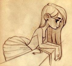 Bailarina olhando da sacada