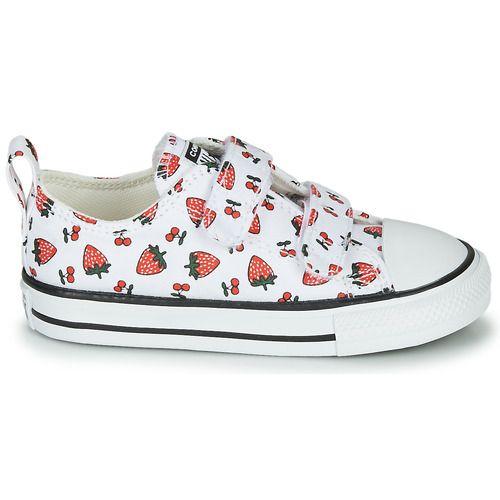 chaussure converse basse enfant fille rouge