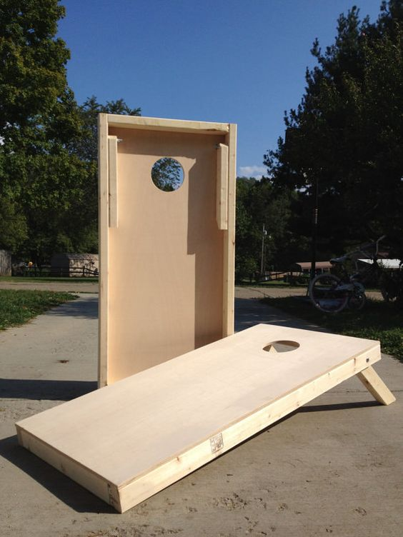 Plain Cornhole Boards, sanded smooth ready for paint! (No Bags), $65.00
