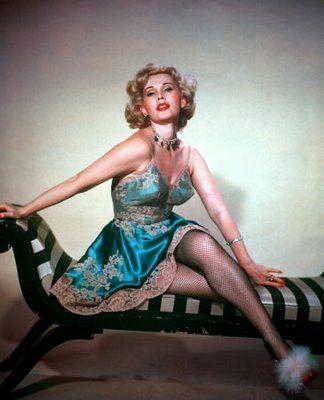 Actress Eva Gabor in Vintage Lingerie