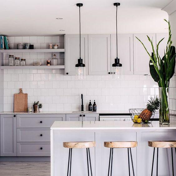 Soft gray kitchen
