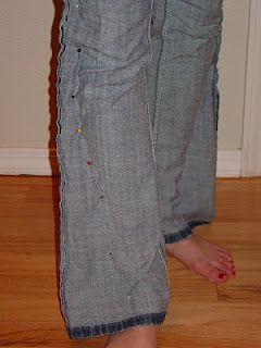 diy skinny jeans... genius!