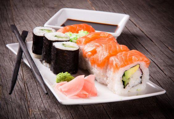 Gezellig sushi weten eten met mijn voetbalteam, als start van een leuk seizoen.