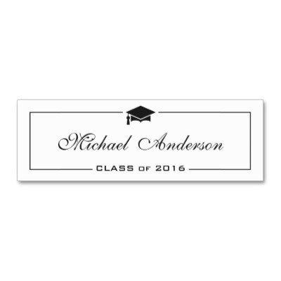 Graduation Name Card - Elegant Classic Insert Card Business Cards ...