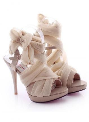 L 082404 Y High-Heeled Fashion Sandals Lace Straps: