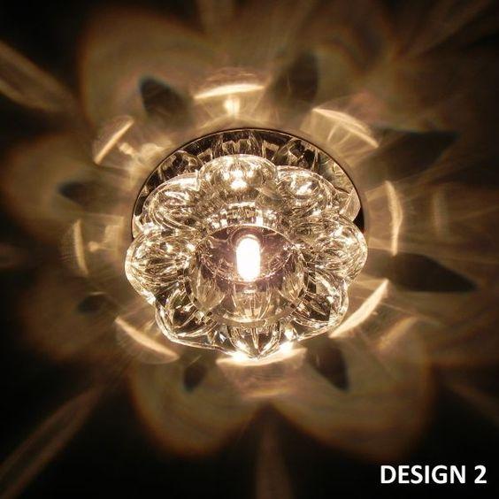 Einbaustrahler aus Glas V2 mit G4 Fassung - LED möglich