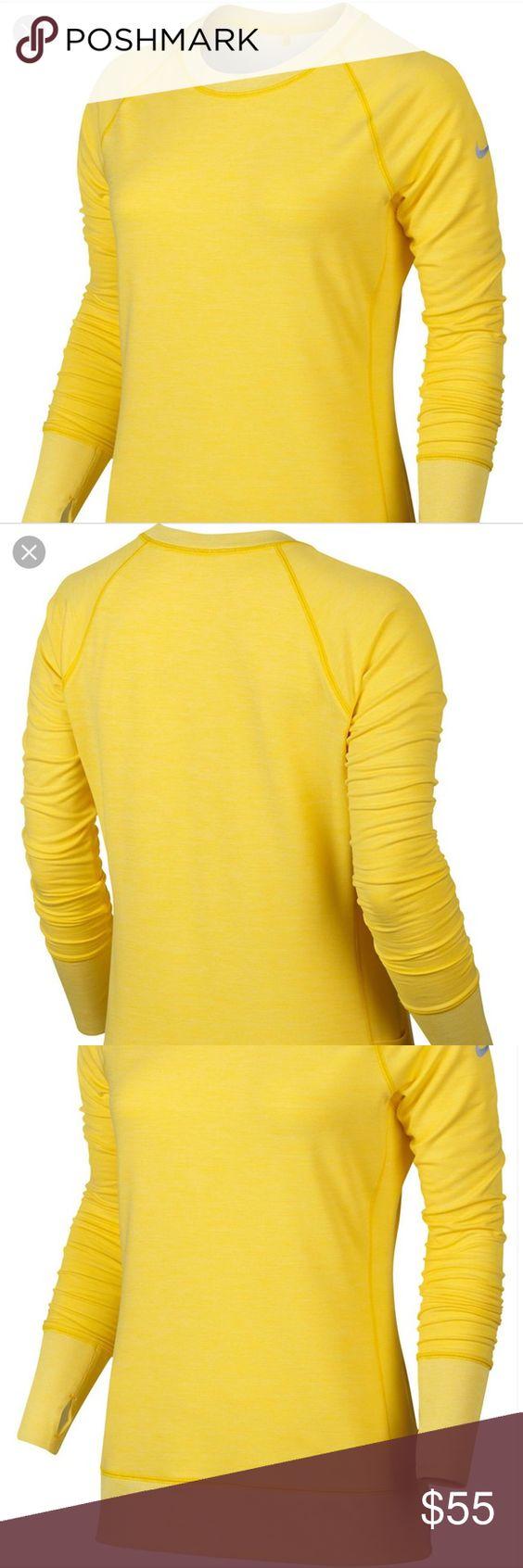 Nike Woman S Yellow Bunker Crew Sweatshirt Crew Sweatshirts Nike Women Sweatshirts [ 1692 x 564 Pixel ]