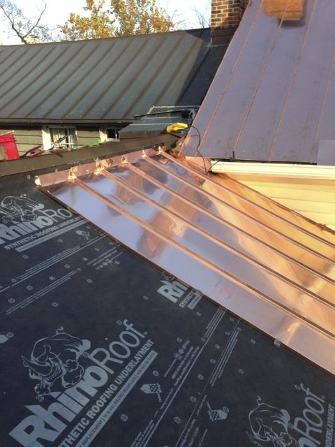 Traditional Standing Seam Copper Roofing Lyons Contracting With Images Copper Roof Fibreglass Roof Standing Seam