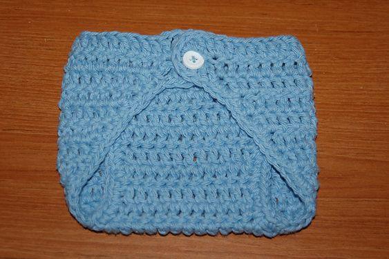 Free Crochet Pattern Monkey Diaper Cover : Ravelry: Free Newborn Diaper Cover Single Button pattern ...