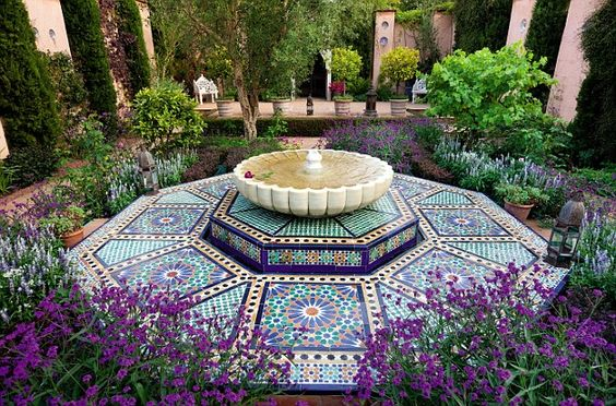 The Carpet Garden in Highgrove Garden. Inspired by Turkish carpets in Highgrove House
