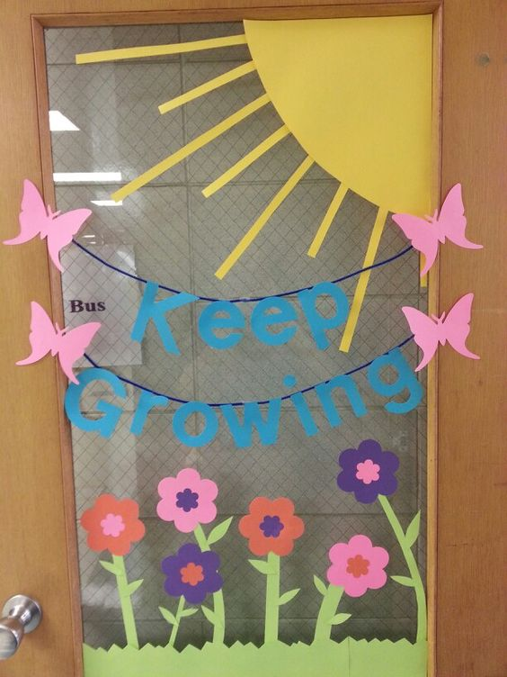 Classroom Decoration Ideas For Spring : Spring classroom door decoration