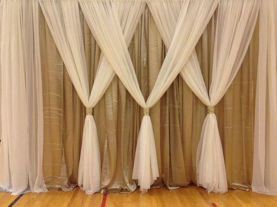 curtain backdrop wedding