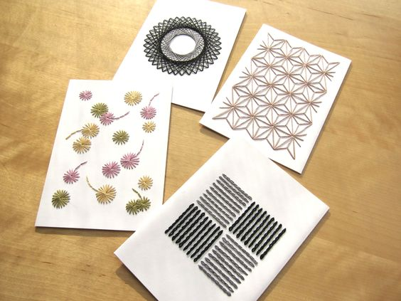 Cartes brodées|Embroidered cards - (page 12) - Les Fils Rouges