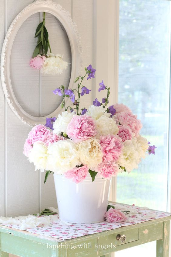 Pivoines shabby and shabby chic on pinterest for Deco cuisine shabby