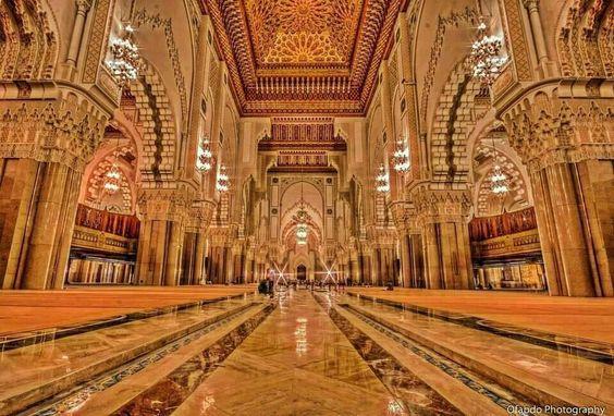 L 39 interieur de la mosquee hassan for Mosquee hassan 2 architecture