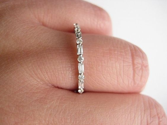 thin baguette eternity ring - Google Search