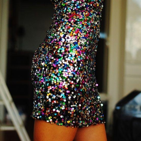multi-color sequin dress -sparkle -sequins -glitter -colors ...