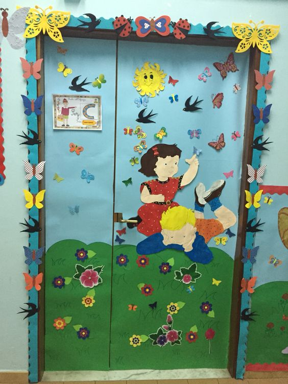 My classroom door in spring by Giusy Cer