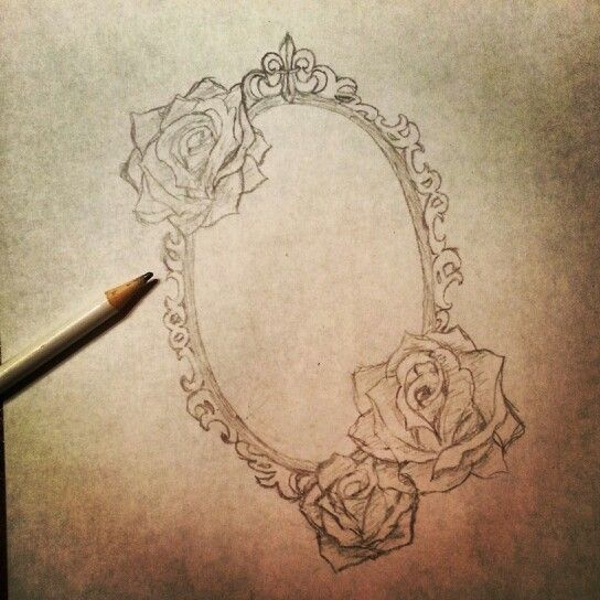 Cameo drawing. Future tattoo. Unfinished.