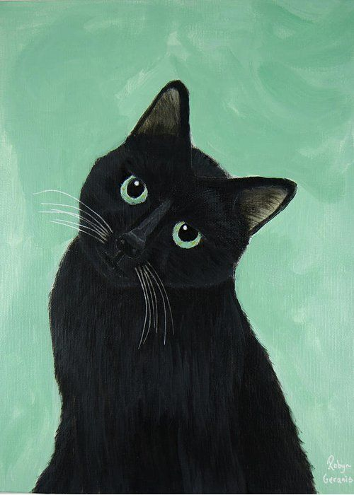 Tuna Greeting Card For Sale By Robyn Geranis Cute Cats And Kittens Black Cat Art Cute Cats