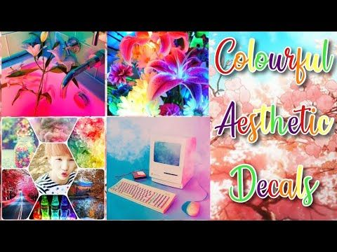 Roblox Bloxburg Colourful Aesthetic Decal Ids Youtube - roblox decals ids and spray paint codes latest