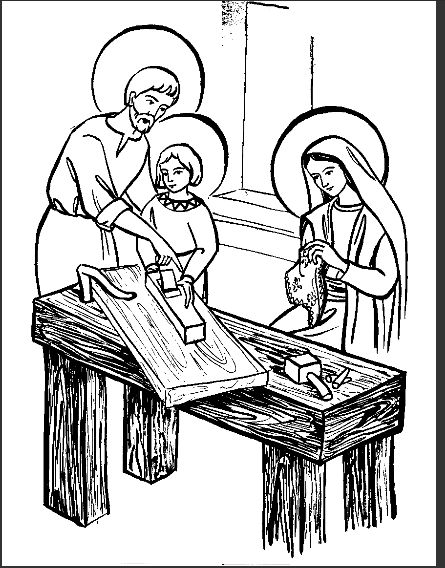 holy family coloring page - holy family coloring page la sainte famille avec marie