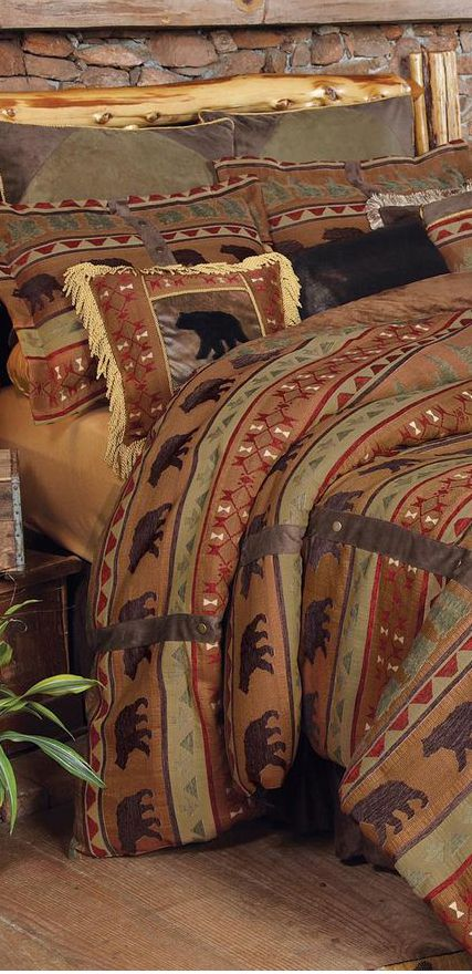 Bear wilderness bedding rustic for Www interior designs com