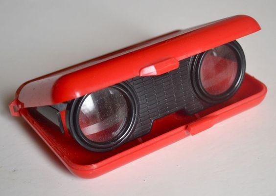 Folding opera glasses, Sport Glass, Japan 1970s, very rare: PLASTIC