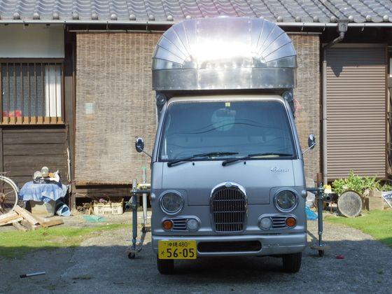 本格的合体作業 軽キッチンカー製作 キャンピングカー 軽 軽 自動車