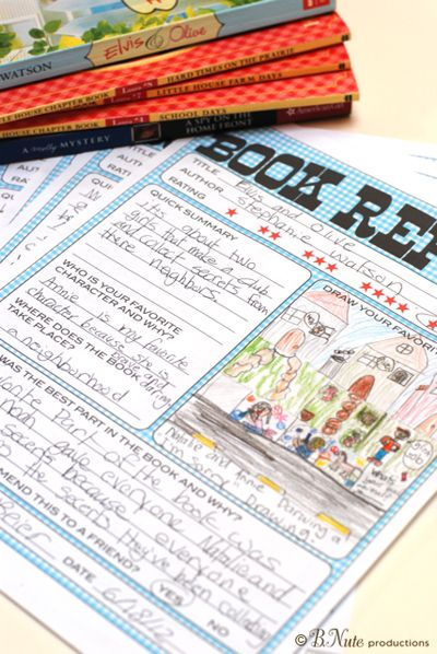 Free Printable Kids Book Report Worksheet