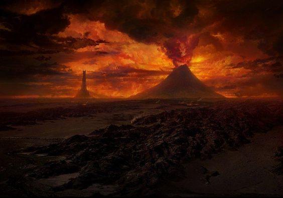 #Mordor #Tolkien #LOTR El hermoso y tenebroso monte del destino