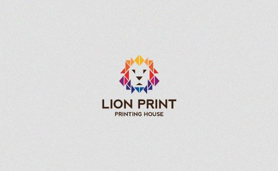 Lion Print - Logo Graphic Design