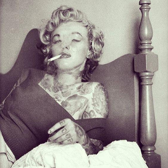 Citaten Marilyn Monroe Instagram : What if marilyn monroe was heavily tattooed drawn by