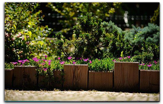 bordure récup à faire avec des voliges? | jardin, brico ...