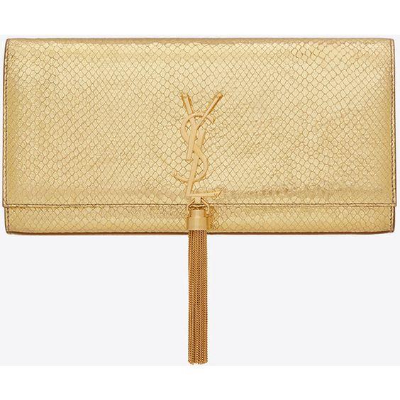 ysl discount bags - Saint Laurent Classic Monogram Saint Laurent Tassel Clutch ($1,510 ...