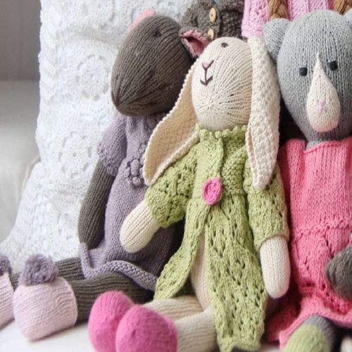 Organic Hand Knit Audrey Toy Mouse from PoshTots
