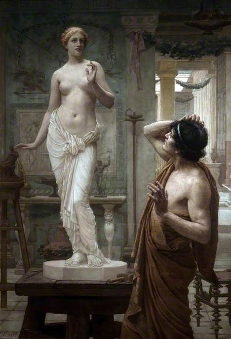 "centuriespast: "" Pygmalion and Galatea [1881] Ernest Normand (1857–1923) Atkinson Art Gallery Collection """