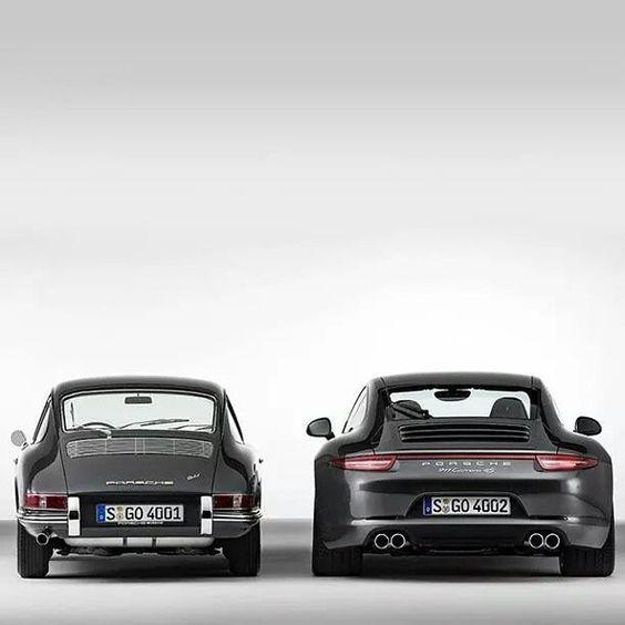 Then and now. #porsche #911 #turbo #carrera #sportscar #oldvsnew #racing #motorsports #luxury #carporn #photography #photooftheday #jj #love #instagood #igers #igdaily #xsauto #bornauto #xenonsupply