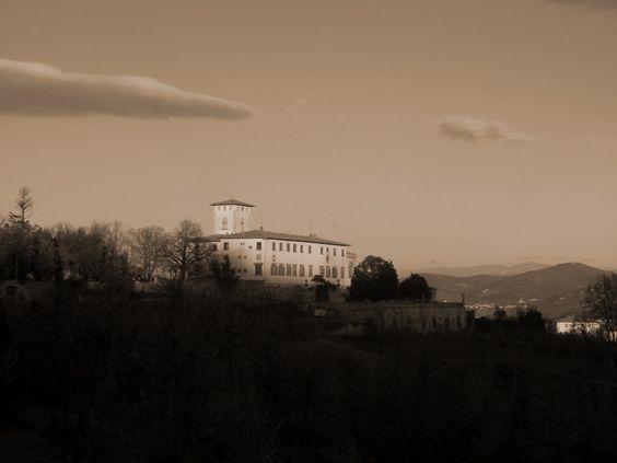 Panoramio - Photo of Villa Corsini b&w