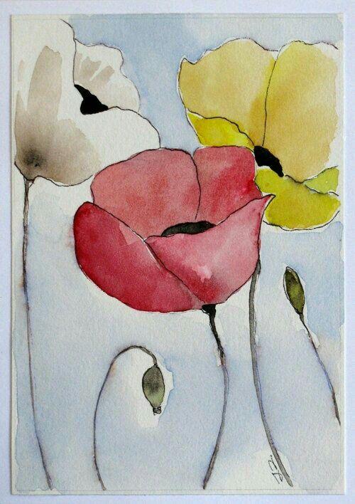 Pin By Florian Schonherr On Pinturas Watercolor Tulips Flower Art Painting Watercolor Flowers Paintings