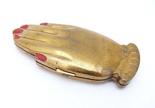 Prayer hand compact mirror: