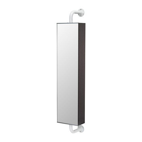 Klampen mirror with storage unit ikea shelves with raised - Bathroom mirror with hidden storage ...