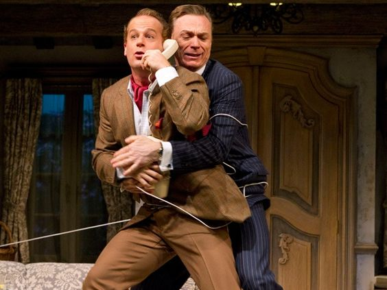 Adam James and Ben Daniels in DON'T DRESS FOR DINNER