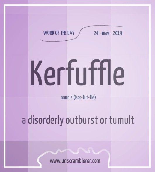 Kerfuffle Interesting English Words Uncommon Words English Vocabulary Words