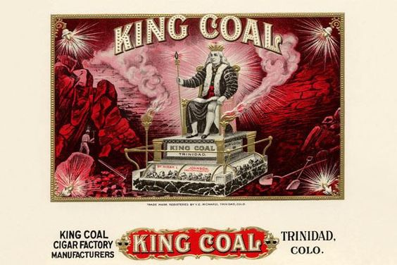 King Coal 28x42 Giclee on Canvas