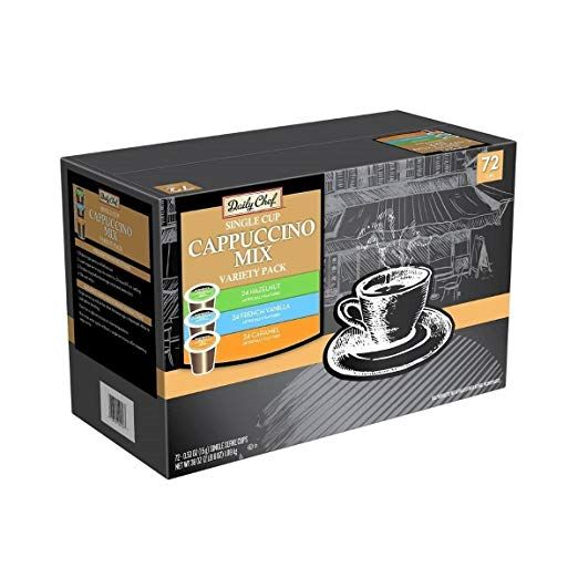 Amazon Com Daily Chef Cappuccino Single Serve Coffee Variety Pack 72 K Cups Grocery Gourmet Food Coffee Varieties Cappuccino Single Serve Coffee