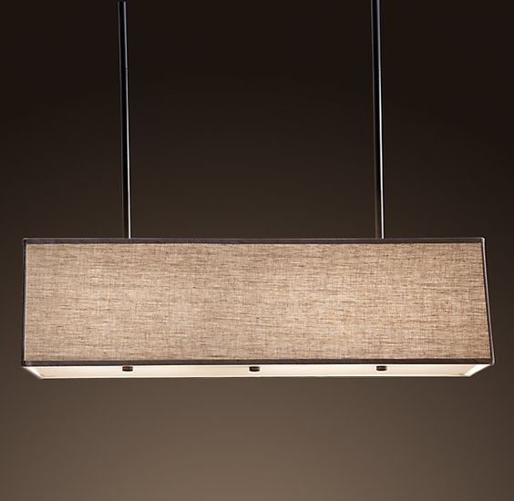Rectangular shade pendant at restoration hardware dining for Restoration hardware window shades