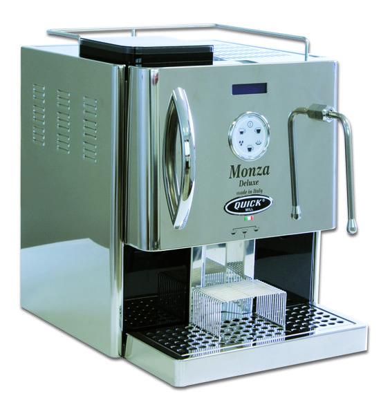 Quick Mill 5008 Monza Deluxe - Der Vollautomat der Superlative. Mit Espresso in Bar-Qualität. Einer der hochwertigsten Vollautomaten auf dem Markt! Erhältlich bei www.CorlitoCaffe.de