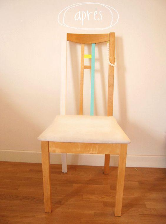 diy peindre une chaise en bois essayer avec du masking