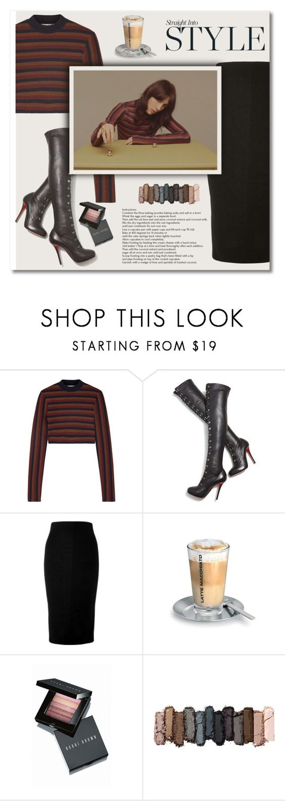 """""""...."""" by bliznec-anna ❤ liked on Polyvore featuring Victoria Beckham, Christian Louboutin, blomus, Bobbi Brown Cosmetics, Urban Decay and victoriabeckham"""